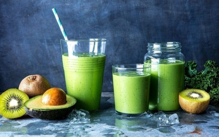 Avocado, Kale and Spinach Smoothie