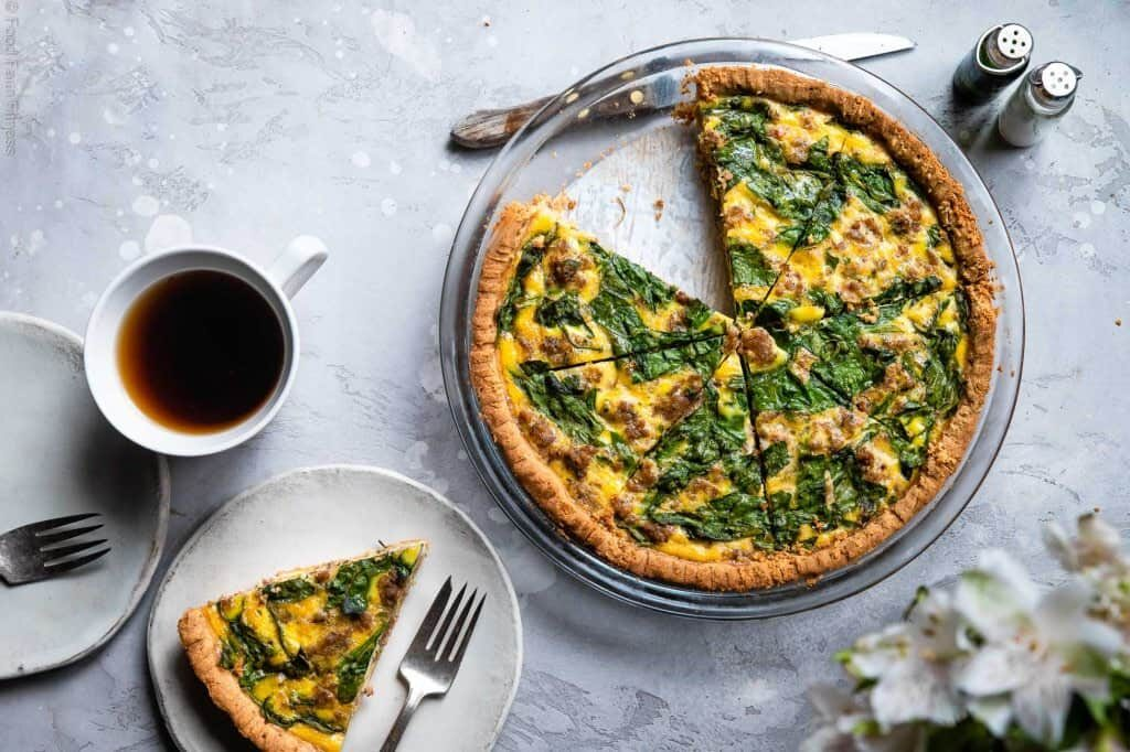 Low Carb Quichewith Almond Flour Crust