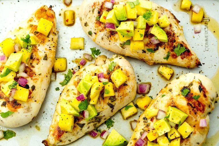 Pineapple Salsa Grilled Chicken