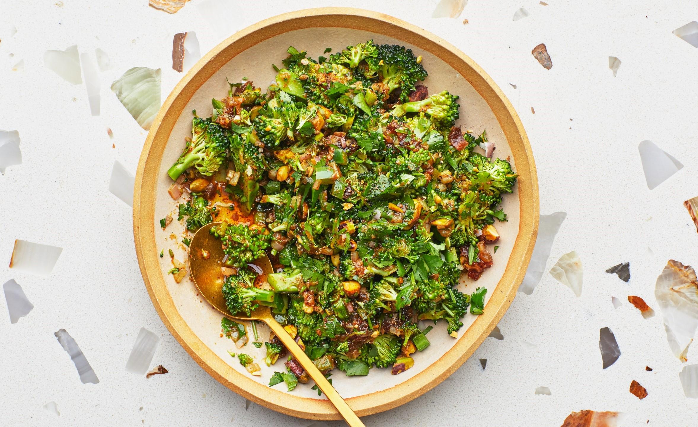 Broccoli Salad With Warm Vinaigrette